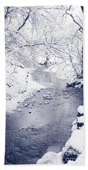 Beach Towel featuring the photograph Winter Stream by Liz Leyden