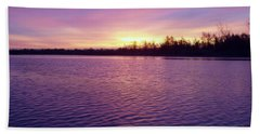 Winter Sunrise Beach Sheet by John Telfer