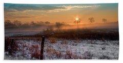 Winter Sunrise Beach Towel