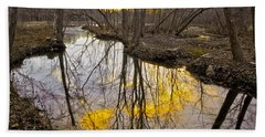 Beach Towel featuring the photograph Winter Sunset At Williston Mill by Brian Wallace
