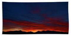 Winter Sunset Beach Towel by Jeremy Rhoades
