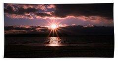 Beach Towel featuring the photograph Winter Sunset by Karen Silvestri