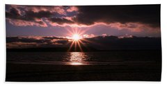 Beach Sheet featuring the photograph Winter Sunset by Karen Silvestri