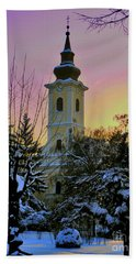Beach Towel featuring the photograph Winter Sunset by Nina Ficur Feenan