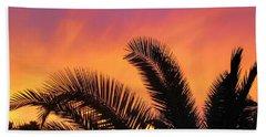 Winter Sunset Beach Towel by Tammy Espino