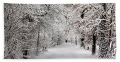Winter Walk In Fairytale  Beach Sheet