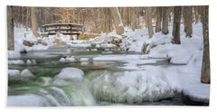 Beach Towel featuring the photograph Winter Water by Bill Wakeley