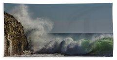 Winter Waves Beach Towel