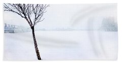 Winter Whiteout Beach Towel