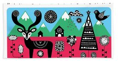 Winter Wonderland Beach Towel