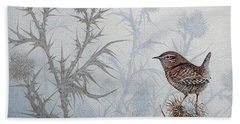 Winter Wren Beach Towel