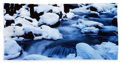 Winter Yosemite National Park Ca Beach Towel by Panoramic Images