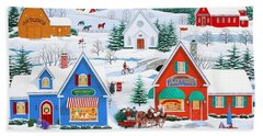 Wintertime In Sugarcreek Beach Towel