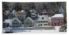 Wintery Alton Bay Nh Beach Sheet