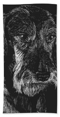 Beach Towel featuring the drawing Wire Haired Dachshund by Rachel Hames