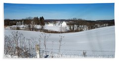 Wisconsin Countryside And A Fresh Layer Of White Beach Sheet by Janice Adomeit