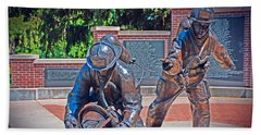 Beach Towel featuring the photograph Wisconsin State Firefighters Memorial Park 2 by Susan  McMenamin