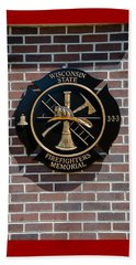 Beach Towel featuring the photograph Wisconsin State Firefighters Memorial Park 5 by Susan  McMenamin