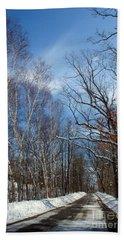 Wisconsin Winter Road Beach Towel