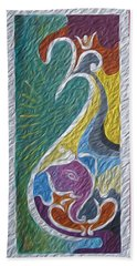 Wisdom And Peace I Beach Towel by Sonali Gangane