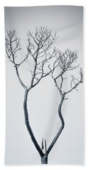 Wishbone Tree Beach Towel by Carolyn Marshall