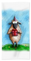 Wishing Ewe  Beach Towel by Gary Bodnar