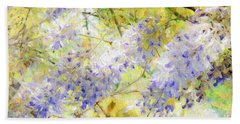 Beach Sheet featuring the photograph Wistful Wisteria 1 by Andee Design