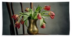 Withered Tulips Beach Towel