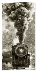 Wmsr Steam Engine 734 Beach Towel
