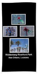 Woldenberg Riverfront Park Sculptures One Beach Towel
