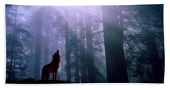Wolf In The Woods Beach Sheet