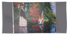 Wolf Lake On Vancouver Island  Beach Towel