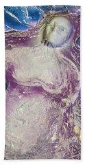 Woman In Purple Beach Towel