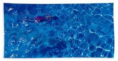 Woman In Swimming Pool Beach Towel