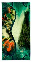 Green Mystery Montage Beach Towel