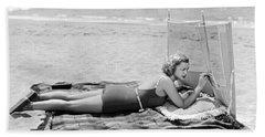 Woman With A Beach Screen Beach Towel