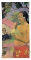 Woman With Mango Beach Towel by Paul Gauguin
