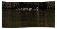 Wood Duck And Ducklings Beach Sheet