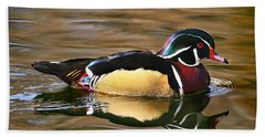 Wood Duck Beauty Beach Towel