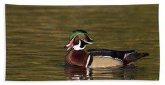Wood Duck Calling Beach Sheet