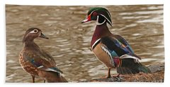 Wood Duck Photo Beach Towel by Luana K Perez