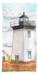 Wood End Lighthouse - Massachusetts Beach Towel