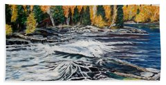 Wood Falls 2 Beach Towel by Marilyn  McNish