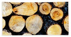 Wood Pile Beach Towel