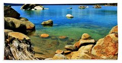 Wood Stone Water Beach Towel