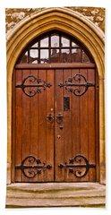 Wooden Door At Tower Hill Beach Towel