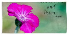 Words From Rumi Beach Towel