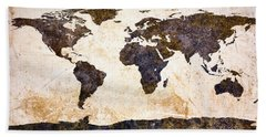 World Map Abstract Beach Towel