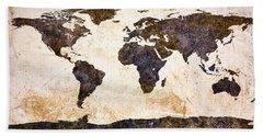 World Map Abstract Beach Sheet