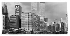 New York City - World Trade Center - Vintage Beach Towel